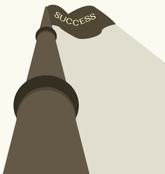 Business success flag vector