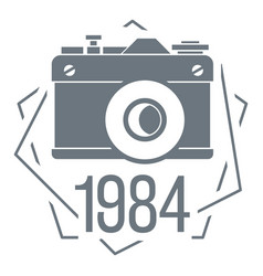 1984 photo camera logo simple style vector