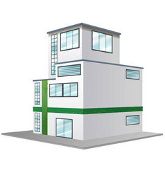 3d design for modern building vector