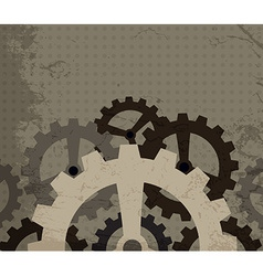 Grunge cogwheel background vector