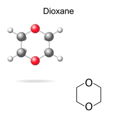 Chemical formula and model of dioxane vector
