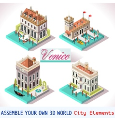 Venice 01 tiles isometric vector