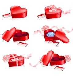 Valentines gift box vector