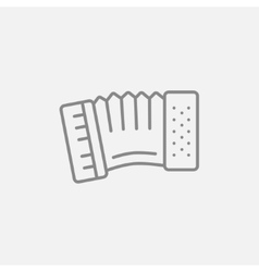 Accordion line icon vector