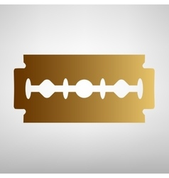 Razor blade sign flat style icon vector