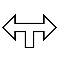 Junction arrow left right thin line icon vector