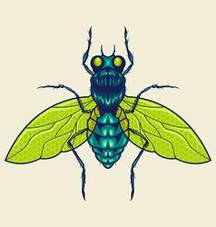 Flies mascot vector