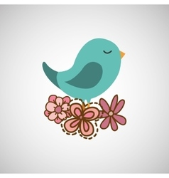 Bird flower nature vector