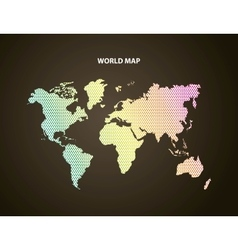 Earth and pointed icon world and map design vector