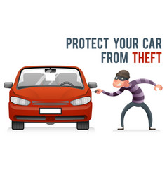 automobile car steal burglar robber thief robbery vector image
