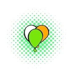 Balloons in irish colors icon comics style vector image