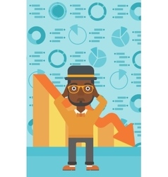 Bankrupt clutching his head vector image vector image