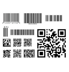 Bar code icon qr code symbol vector