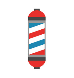 Barbershop label with stripes vector