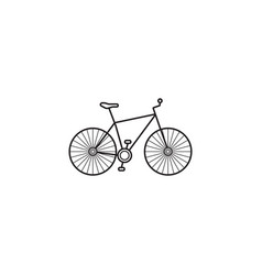 bicycle icon transport symbol graphic vector image
