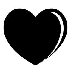 Big heart icon simple style vector