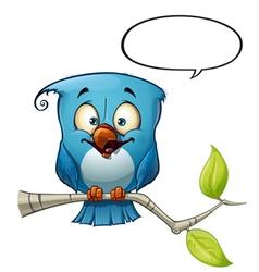 Blue Bird Happy vector image vector image