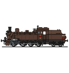 Classic brown steam locomotive vector