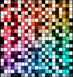 Colored image of abstract blocks vector