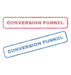 Conversion funnel textile stamps vector