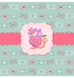 cute love card vector image