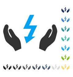 Electrical power maintenance hands icon vector