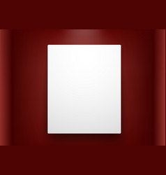 Empty frame on red wall vector