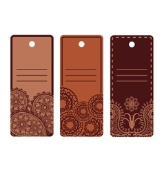 Ethnic design labels set vector image vector image