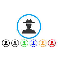 farmer rounded icon vector image vector image