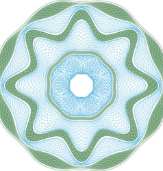 guilloche element vector image vector image