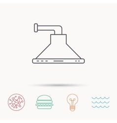 Kitchen hood icon Kitchenware equipment sign vector image vector image