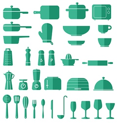 Kitchen Icon Set Graphics vector image vector image