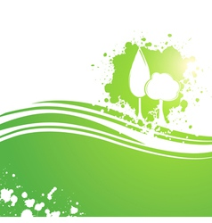 Landscaping eco tree background vector