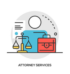 Lawyer concept modern line style concept vector