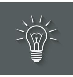 Lightbulb idea symbol vector