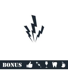 Lightning icon flat vector
