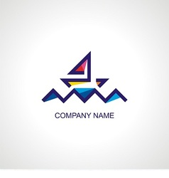 logo for travel company vector image vector image