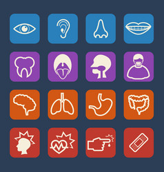 Medical and hospital icons set flat design set vector