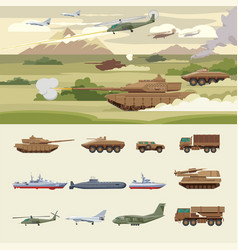 Military transport concept vector