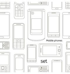 Mobile phones set pattern vector