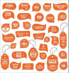 Modern sale stickers collection 4 vector