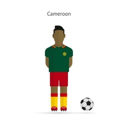 National football player Cameroon soccer team vector image vector image