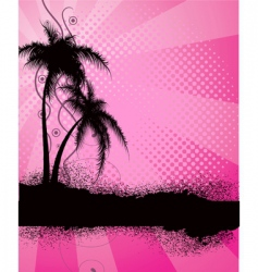 Palm trees silhouette vector