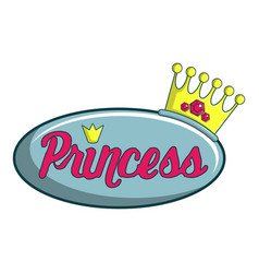 Princess show icon cartoon style vector