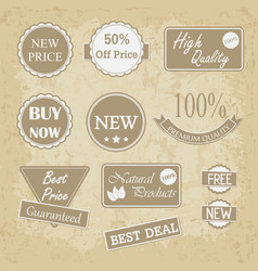 quality vintage badges collection vector image vector image
