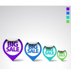 round sale labels vector image