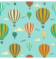 Seamless background with hot air balloons vector image vector image