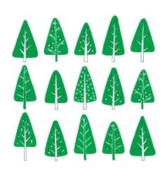 Set christmas tree vector