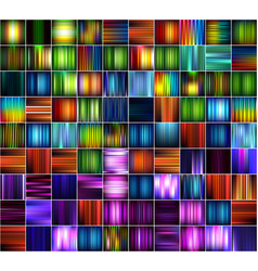 set of abstract striped blurred backgrounds vector image