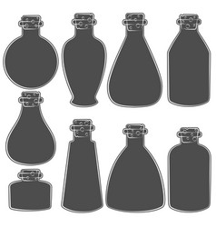 set with the image of the vials tubes vector image vector image
